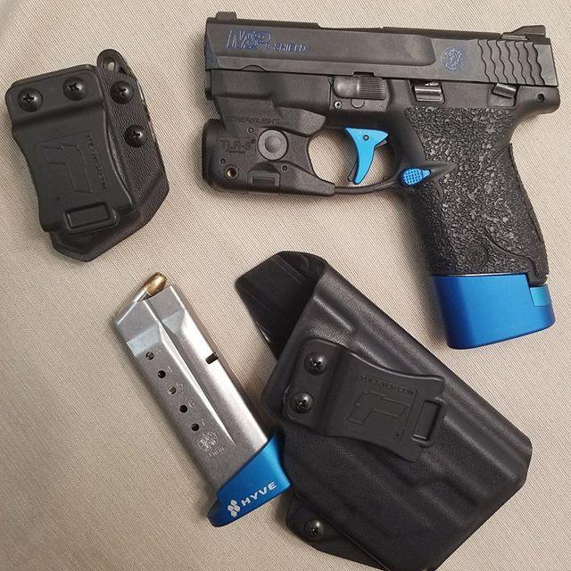 M&P Shield 9mm/.40 w/Streamlight TLR-6 IWB/AIWB Kydex Holster - ProfileLB Holster - Right Hand