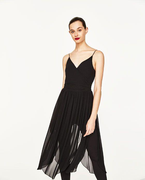 Image 2 of DRESS WITH FULL SKIRT AND LEGGINGS from Zara