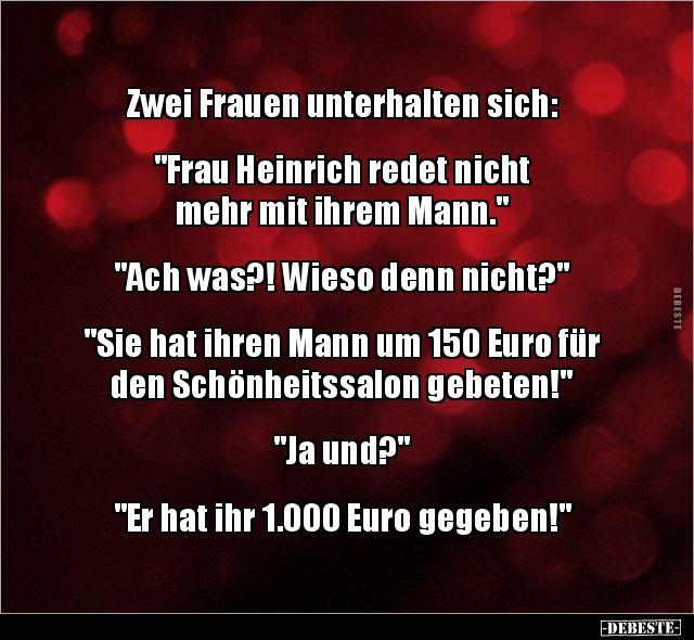 Zwei Frauen Unterhalten Sich Frau Heinrich Redet Lustig Witzig