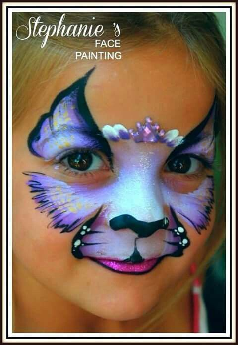 Lovely girly cat design from Stephanie's face paintings...