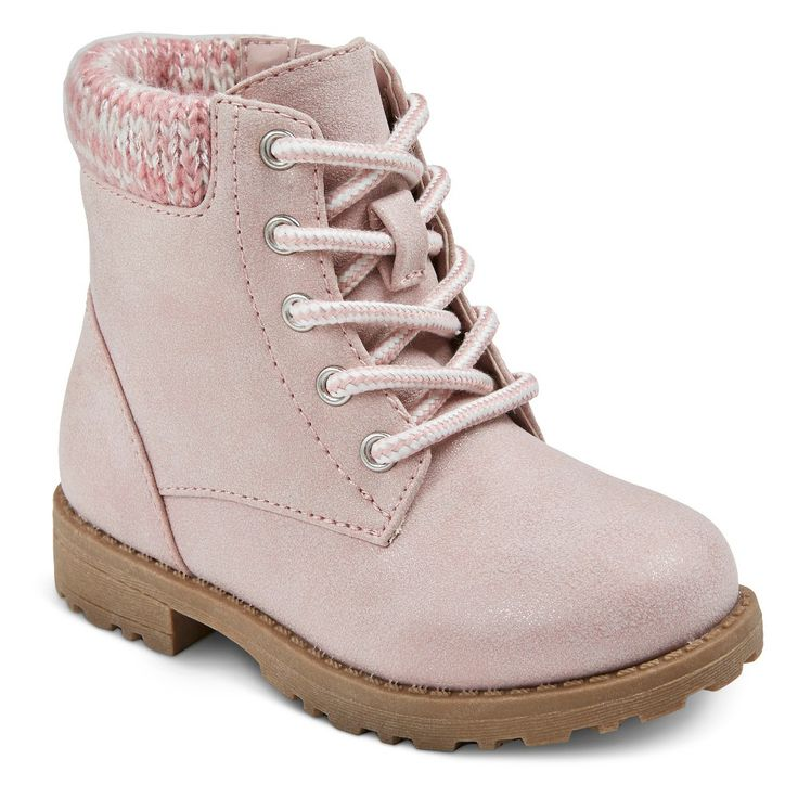 Toddler Girls' Piper Knit Hiker Fashion Boots Cat & Jack - Pink 7, Toddler Girl's
