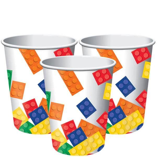 Blokken Bekers voor een Lego feestje | Hieppp - Hieppp