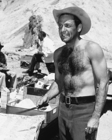 William Holden.  If I told him he had a hairy chest I hope he would Holden it against me!