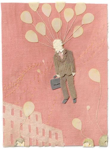Textile illustrations by Miki Sato