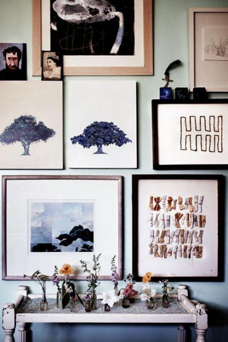 inspired... | Daily Dream Decor: Wall Art, Apartment Design, Art Flowers, Design Apartment, Artist, Decorating, Art Walls