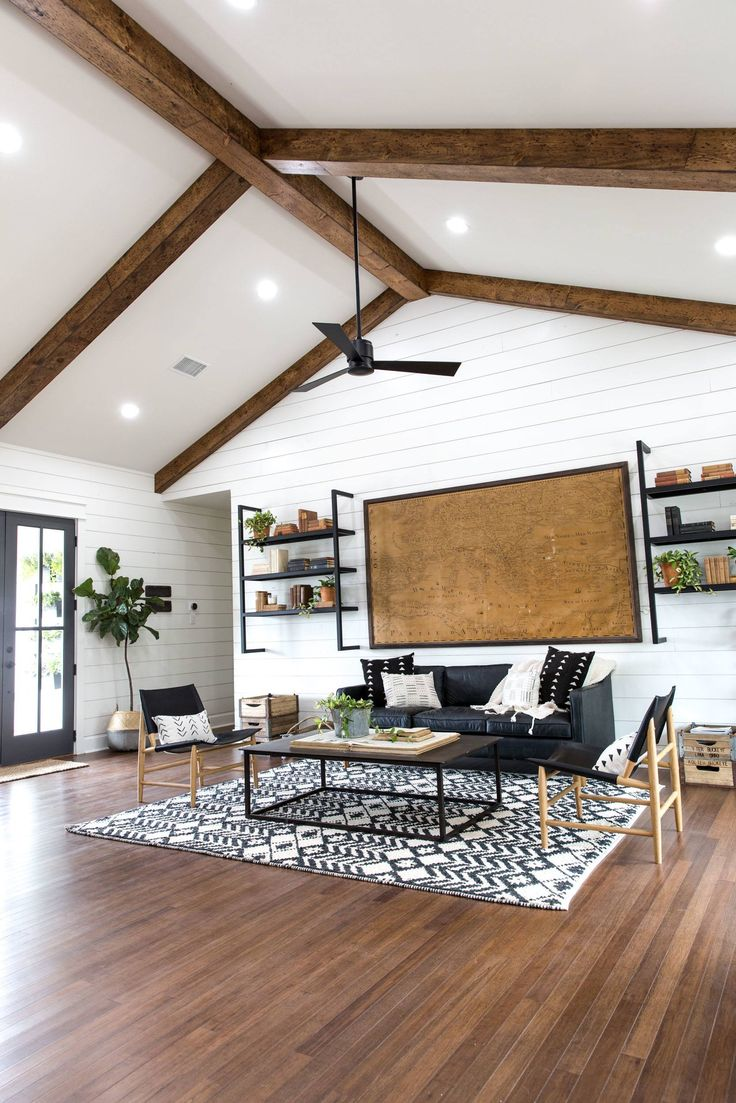 The raised ceilings in the living and kitchen made this feel like a true family great room with plenty of space for this family to be together.