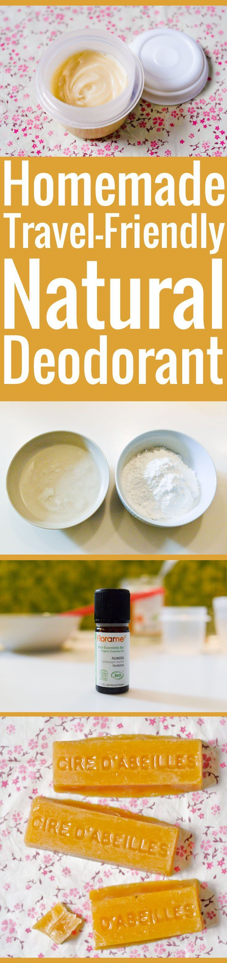 Easy formula for homemade natural deodorant that ACTUALLY WORKS! Easy-to-find ingredients and a creamy consistency that won't leak in your toiletry bag.