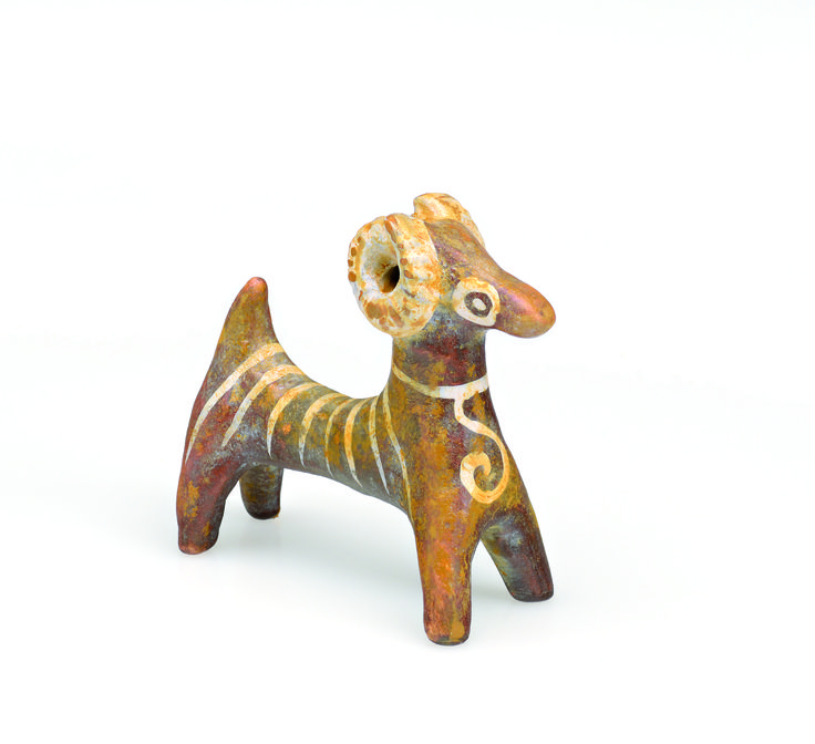 Navarino Icons Ceramic Ram Figurine Ram It was the golden fleece of this animal which was sought by Jason and the Argonauts.