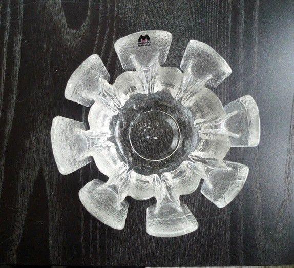 Muurla Finland bolle / lysholder i glass. Har 2. 100,- stykk