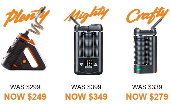 Price drop on the Plenty, Crafty and Mighty Vaporizers. Pick them up today at To the Cloud Vapor Store with a free C Vault and 90 day trial period. #MightyVaporizer #CraftyVaporizer #PlentyVaporizer #TothelCoudVaporStore #VaporizerSale