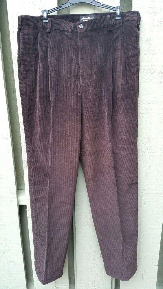 Eddie Bauer Mens Corduroy Pants Chestnut 38x34  Relaxed Fit #EddieBauer #CorduroysCargo