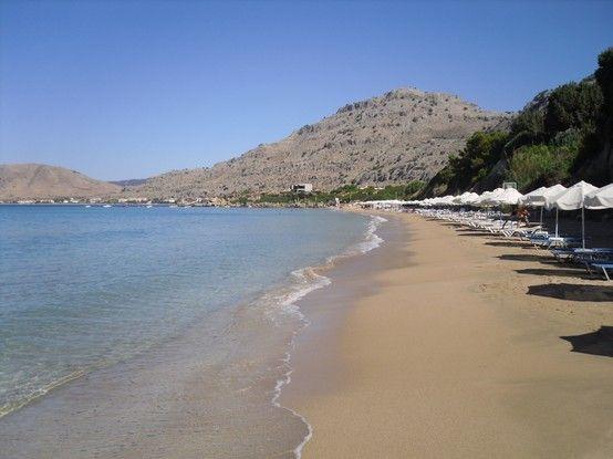 beautiful pefkos beach.. Rhodes
