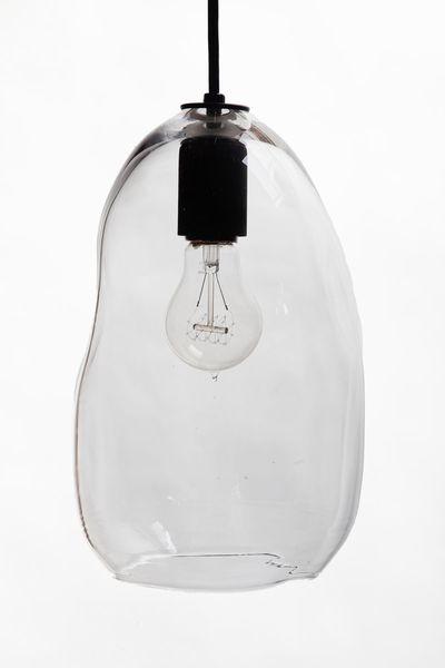 bubble light large clear hand blown glass pendant bubble hand blown glass