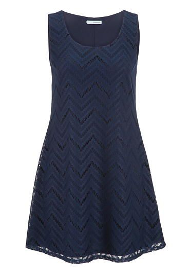 shift dress in chevron striped lace (original price, $39) available at #Maurices