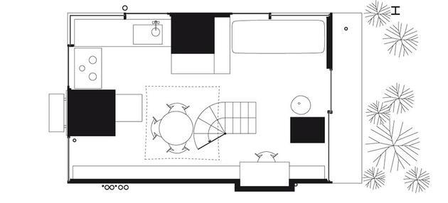 Garden & House in Tokyo Floor 1 - Ryue Nishizawa