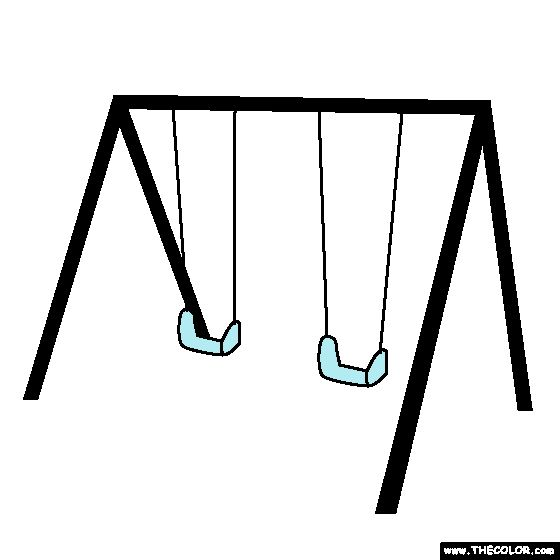 Swing Set Coloring Page In 2019 Online Coloring Pages Online
