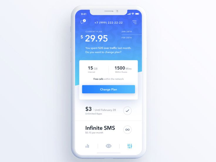 Hi guys ✌️, Hope you're well. We glad to share with you the new wireless service provider application concept. There're 3 levels: statistic (past), overview (now) and your future plan (what will h...
