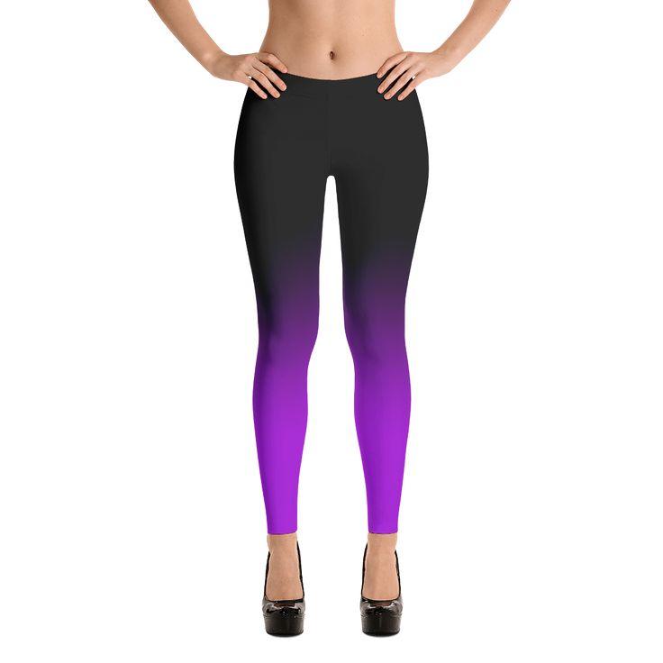 Black to Purple Ombre Leggings