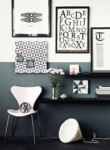 Graafinen, mustavalkoinen sisustus on aina tyylikäs, raikas ja moderni. / The combination of black and white is always stylish, don´t you think? / Kuva/pic: Martti Järvi