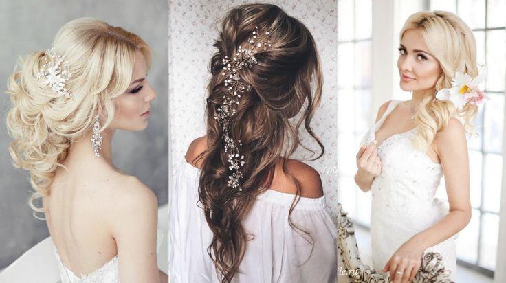 Естественные и простые свадебные прически 2016