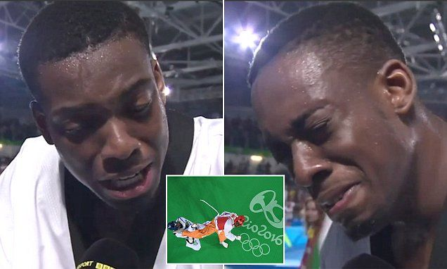 Team GB's taekwondo star Lutalo Muhammad broke down in tears after losing…