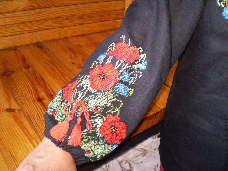 """Вышитая Блуза """"Полевые маки"""" – купить в интернет-магазине на Ярмарке Мастеров с доставкой"""