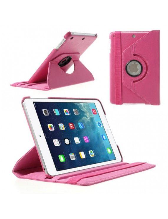 Περιστρεφόμενη Δερμάτινη Θήκη Βιβλίο με Βάση Στήριξης για iPad Mini / iPad Mini 2 - Φούξια