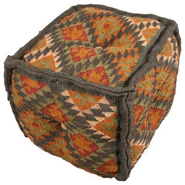 Bedouin Negev Pouf transitional ottomans and cubes