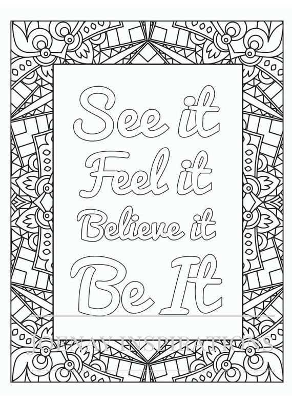 Printable Coloring Pages For Adults With Quotes : 1179 best coloring pages~words images on pinterest