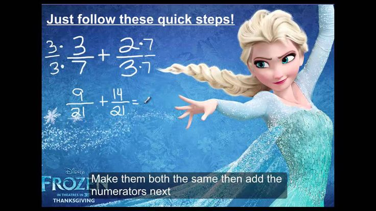 "Frozen Parody ""Do you wanna add some fractions?"" Math"