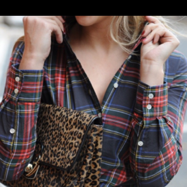 Plaid and leopard, not together but yes to both!!