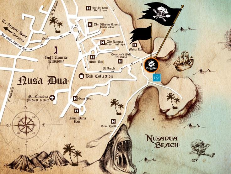 The Pirates Bay Nusa Dua Bali - Map, detail