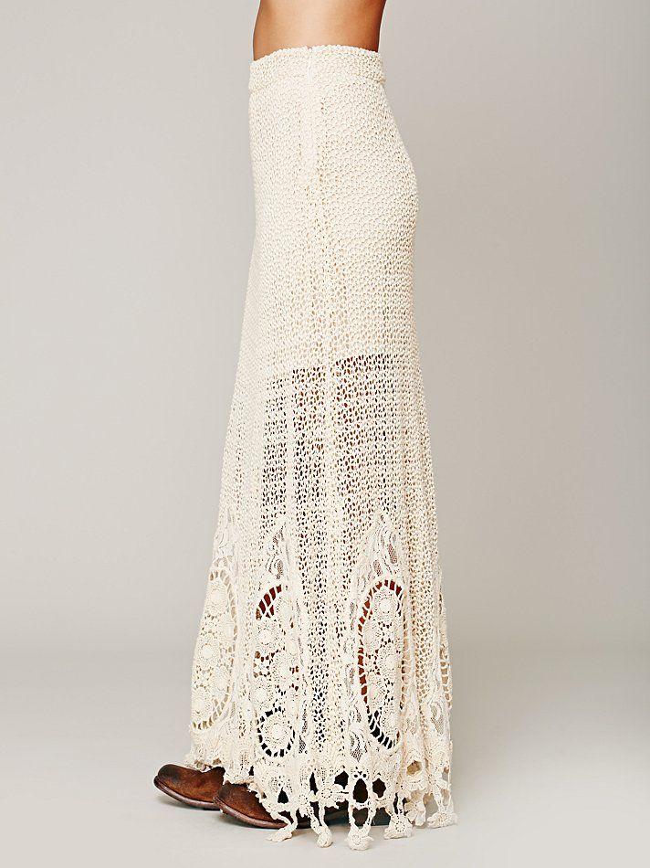 Free Crochet Pattern Maxi Skirt : Mi Amore Maxi Skirt