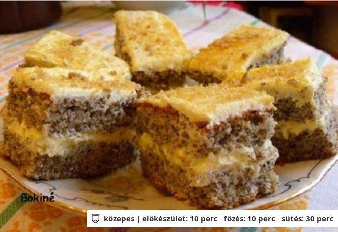 Krémes bögrés -almás, mákos, diós