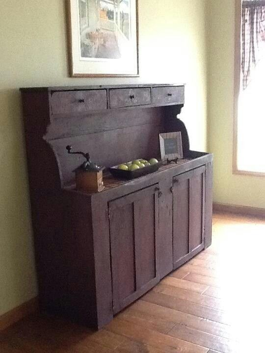Great Cabinet needs some Primitive Decor to complete A Fab Look