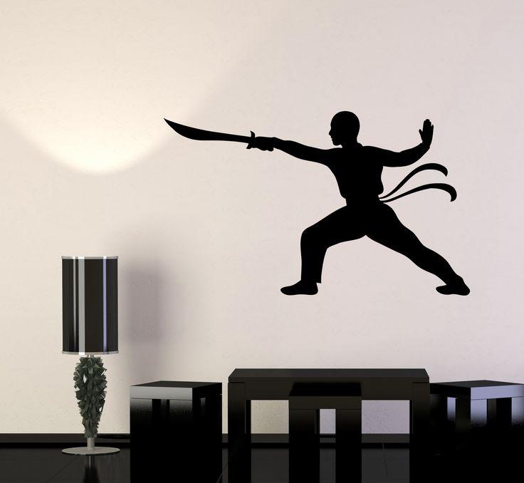 Wall Decal Sword Warrior Martial Arts Samurai Japan Vinyl Sticker (ed592)