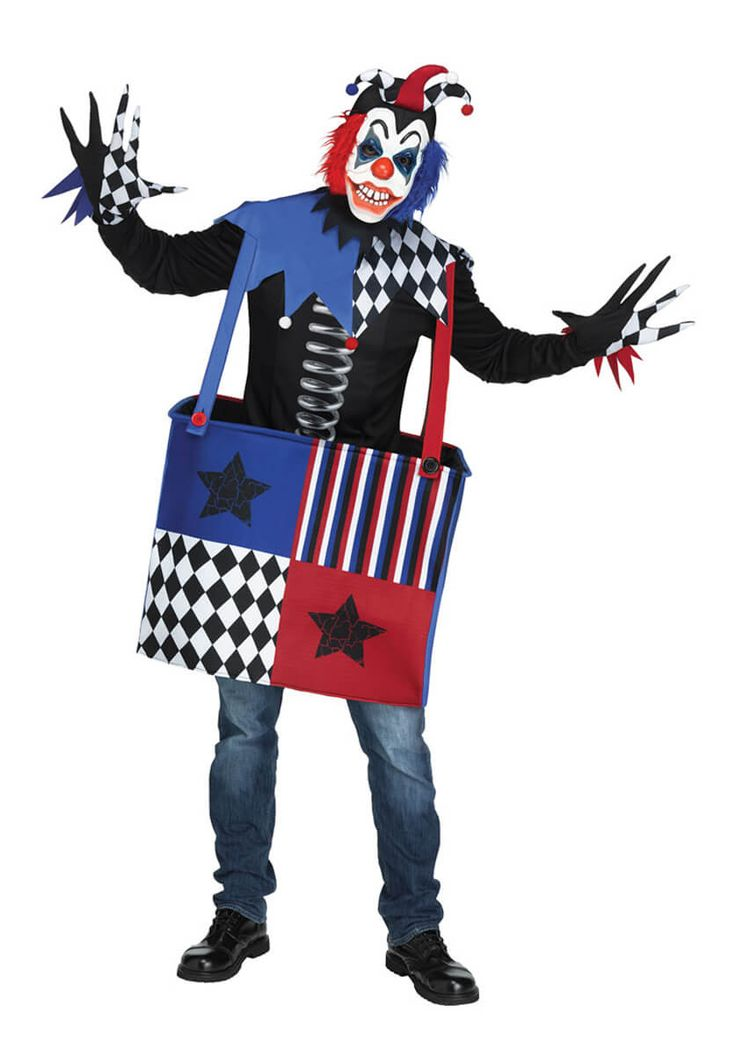 Freak In A Box Costume, Adult - Scary Clown Costumes at Escapade #fancydress