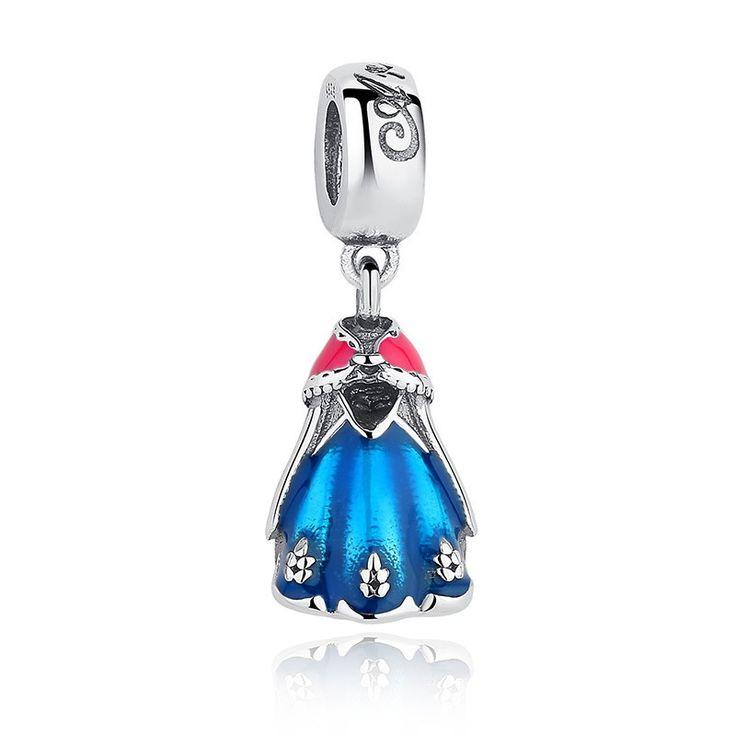 Charm : 925 Sterling Silver Princess Anna's Dress Bracelet Charm