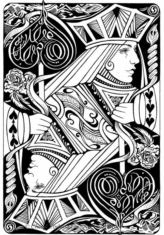 queen of hearts art   Playing Card Art: Playing Cards by Cheryl Eveland 645.921