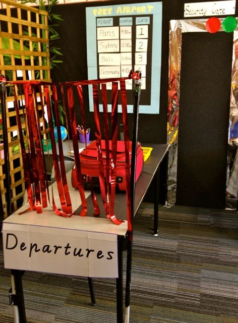 Dramatic Play | Early Life Foundations - LOVE this baggage check!