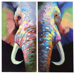 The non-worried elephant! Handmålad elefant tavla på canvas med snyggt balanserade färger som enkelt passar in i ditt hem. Det fina motivet på 2 delar är väldigt iögonfallande samtidigt som det ger hemmet en bekväm känsla.  Länk till produkt: http://www.feelhome.se/produkt/the-non-worried-elephant/  #Homedecoration #Canvas #olipainting #art #interior #design #Painting #handpainted #interiordesign #canvastavla #canvastavlor #elephant #colorful #elefant #djur #natur #Vardagsrum #Kontor…
