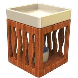 Design-Duftlampe aus Bambus  Angenehmer Raumduft trägt zum Wohlbefinden entscheidend bei. Diese Aromalampen verwöhnen die Nase mit feinstem Duft und sind ein wahrer Blickfang in Ihrem Raum. – Im Lieferumfang sind enthalten: > Bambusschale > Aromaschale > Teelichtbehälter – Drei Designs zur Auswahl – Material: Bambus / lackierte Keramik – für alle Duftöle und Duftmischungen geeignet – Duftöl ist nicht in Lieferung enthalten…