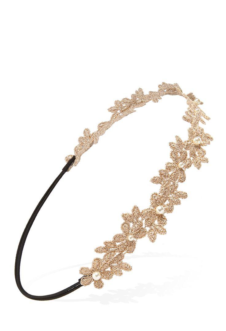 Crocheted Flower Headband | FOREVER21 #Accessories