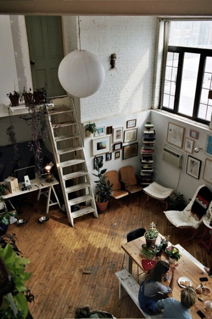 .: Ladder, The Doors, Spaces, Living Rooms, Kitchens Design, Loft Apartment, Interiors Design, Plants, House