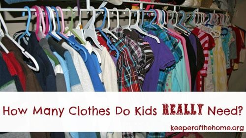 "How Many Clothes Do Kids Really Need... ""Keeper of the Home"" Simplifying wardrobes and laundry."