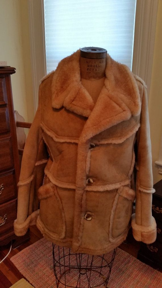 Vintage Saks Fifth Avenue Mens Shearling Coat by MyYiayiaHadThat