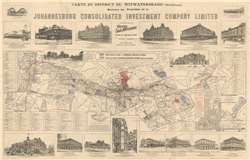 Rare Map for Sale: 1902 French Investment Map of Johannesburg, South Africa at Geographicus Rare Antique Maps