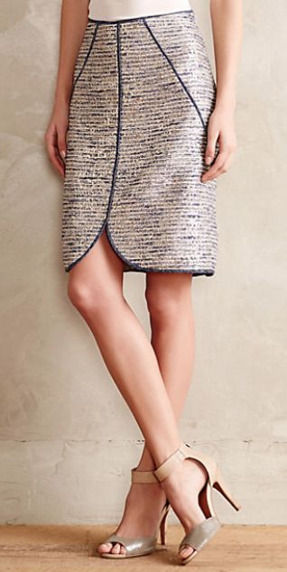 eclat tweed pencil skirt in silver #anthrofave http://rstyle.me/n/sg4uvpdpe