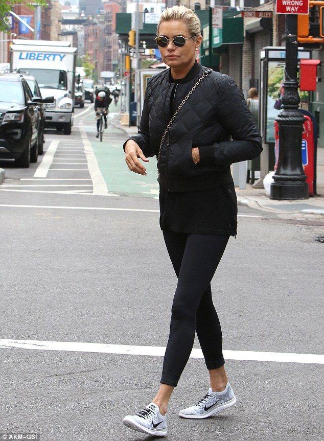 Keeping busy: Yolanda Hadid, 52, was on mum duty in NYC, running errands and helping move ...