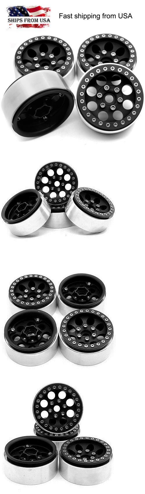 Wheels Tires Rims and Hubs 182201: 4Pcs 1.9 Alloy Beadlock Wheel Rims For Scx10 F350 Rc4wd D90 1 10 Rc Crawler Us -> BUY IT NOW ONLY: $52.25 on eBay!